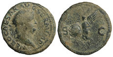 Roman empire - Nero (54-68) -  As - Rome mint 65 AD - Rare
