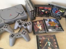 Sony PS1 Console incl 3 Official Playstation Controllers and 8 Games Including Classic Games