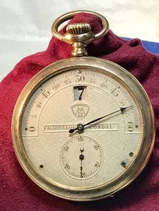 Saltarello Modernista – rare pocket watch – Patented 1900