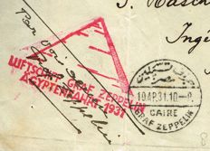 Egypt 1931 - Zeppelin Flight cover Egypt to Jerusalem
