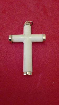 Ivory and gold cross