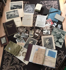 Huge collection of documents - field post, identification cards, bayonet