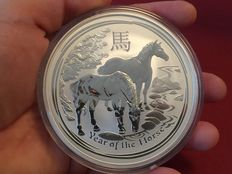 "Australien - 10 Dollars "" Lunar II Year of the Horse"" Jahr des Pferd 2014 - Perth Mint - 10 oz Silber"