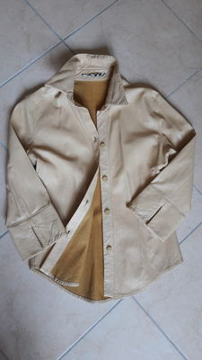 Burberry - camicia in pelle