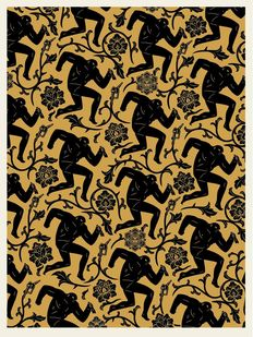Shepard Fairey (OBEY) x Cleon Peterson - Pattern of Corruption (Gold)