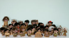 Collection of 32 original Nyform trolls in nice condition. Norway. Have always been in a display cabinet - not been played with.
