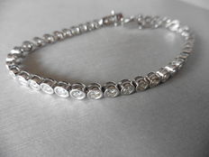 18k Gold Diamond Tennis Bracelet - 3.50ct J, SI1