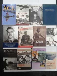 WW II; Lot with 12 books on mainly Dutch military history during WW II-1999/2014