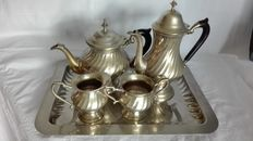 Antique breakfast set - 1000 plated silver