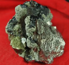 Arsenopyrite, Chalcopyrite; Blende (sphalerite)  mica - 12x 7 x 7 - weight - 980 gm