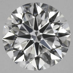0.70 ct Round Brilliant Diamond D VS2 GIA Serial#A4-original image 10X