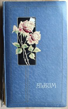 Art Nouveau album with 300 postcards from Germany - nice lot / collection