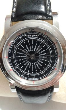 New PHILIP WATCH GMT men's wristwatch with world times (New Old Stock).