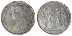 Papal State - Gregory XVI - shield 1831 - Bologna - silver