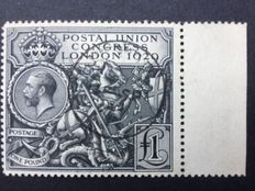 Great Britain 1929 George V - UPU Congress London £ 1 Black - Stanley Gibbons 438