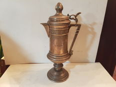 Silver plated coffee pot - German - dated 1908