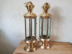 2 beautiful old copper lanterns