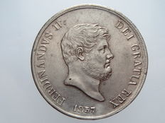 Kingdom of the Two Sicilies – Piastre worth 120 Grana, 1857 – Ferdinand II – silver