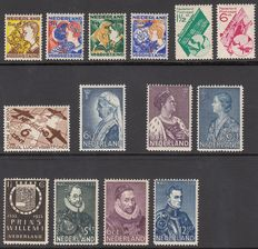 The Netherlands 1931/1935 – Six series – NVPH 239/239, 248/251, 252/255, 265/266, 269 and 278