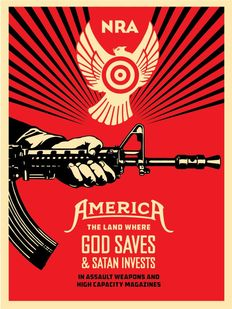 Shepard Fairey - God Saves and Satan Invests