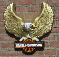 Advertising wall plate Golden Eagle icon for Harley Davidson