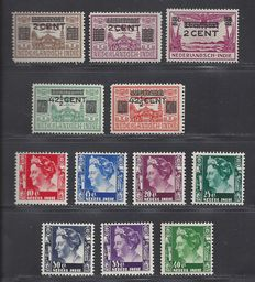 Dutch East Indies 1931/1940 - Clearance and Queen Wilhelmina - VPH 211/215 + 253/259