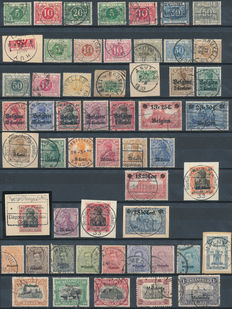 Belgium 1863/1957 - Selection of loose stamps 'back of book'