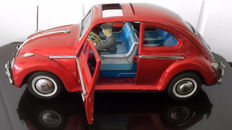 Bandai, Japan - Length 26 cm - Volkswagen Beetle with battery engine, 60s
