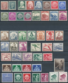 German Reich 1924/1939 – Collection between Michel 362 and 713