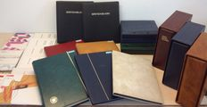 Netherlands and Overseas 1860/2000 – Batch in 13  albums/stock books + 13  year sets