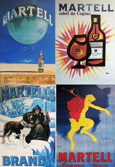 11 Martell cognac posters - 1980s