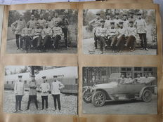 Album photos 1912-1913 containing 72 real pictures of German military and 171 family photos is 243 original photos.