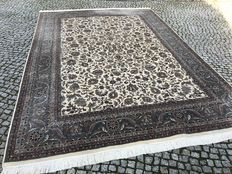Indo-Ispahan Perfect Orient Rug 370x260cm -hand knotted - New and looks like kaschmir