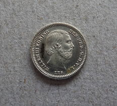 The Netherlands - 5 cents 1887 Willem III - silver