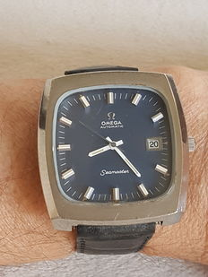 Omega Seamaster Automatic -  Model Big Square Blue -Year 1970 - Man watch