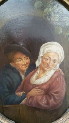Dutch School (19th century) - portrait of a couple