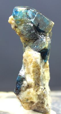 Extremely Rare Teal Blue Color Afghanite Crystals Specimen -  56 x 16 x 15 mm - 28 Gram