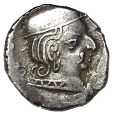 Indo-Skythen, Western Central India - Vijayasena (238-250 AD), as Kshatrap - AR Drachm - Bust / Three-arched hill (Chaitya)