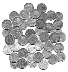 Netherlands – 5 cent 1850 through 1887 Willem III (43 pieces) – silver