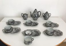 Kutani eggshell porcelain tea set Dragonware - Japan - First half 20th century