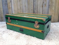 Mid-century cargo crate, ship's chest, case chest