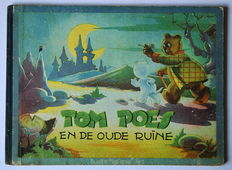 """Oliver B. Bumble and Tom Puss - """"Blader mee"""" series 1 - Tom Poes en de oude ruïne - hardcover with cloth spine - 1st edition - (1945)"""