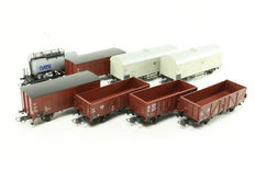 Roco H0 - 46039/46043/56125/56233/56260 - 8 Freight carriages