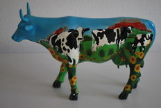 Mary Beth Whalen for Cow Parade - type 'Cow Barn' - with original box and tag. Large execution. Retired