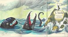 """Visintin, Fabio - """"L'Isola"""", with a signed dedication & drawing + an Illustration for """"Animals"""""""