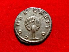 Roman Empire - Mariniana (Valerianus I wife) silver antoninianus (2,70 g. 21 mm.) minted in Rome after her deaht in 253 A.D. CONSECRATIO. Peacock. Rare