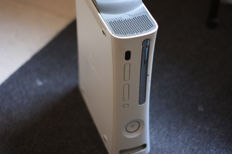 Microsoft xbox 360 - 60GB with 1 wireless controllers and 10 various games