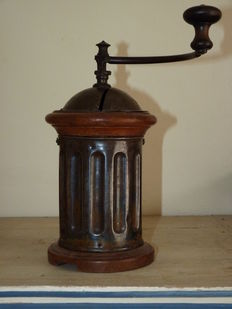Antique French Peugeot Freres coffee grinder model G3.