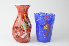 New Murano Gallery glassworks - pair of vases