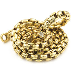 Cord chain in 18 kt yellow gold – length: 44 cm – thickness: 5.7 mm